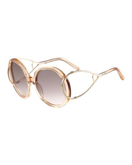 Chloe Jackson Round Oversized Sunglasses