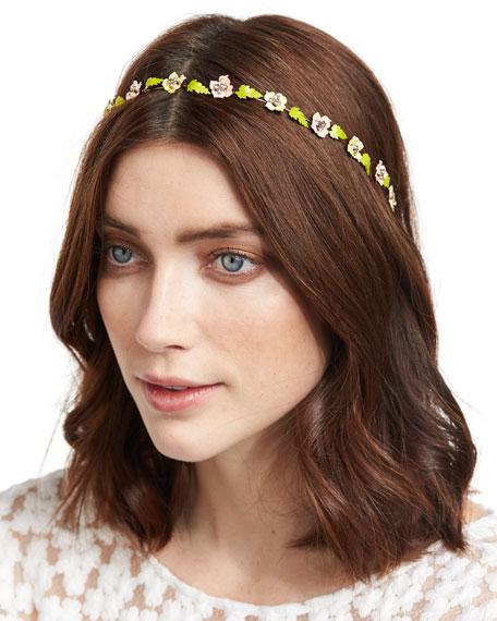Jennifer Behr Madeline Painted Floral Bandeau Headband,