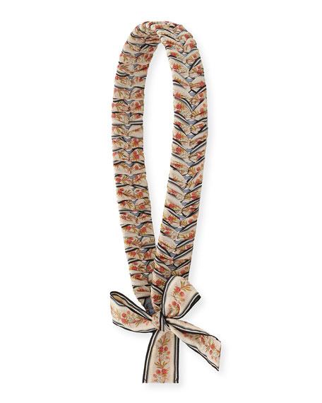 Strap You Ribbon-Laced Shoulder Strap for Handbag, Gray