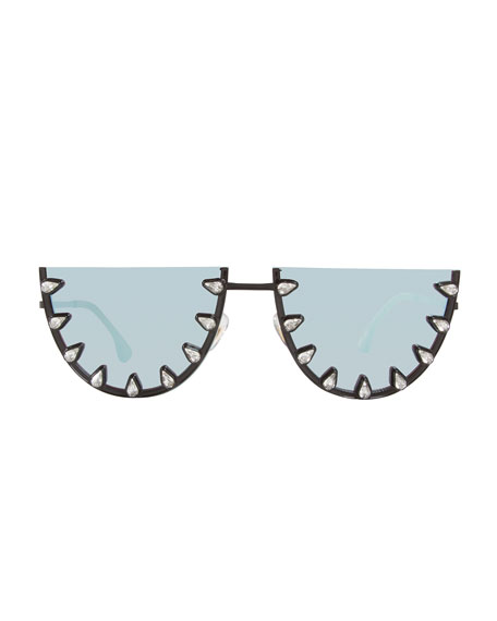 Palm Canyon Flat-Top Watermelon Sunglasses, Blue