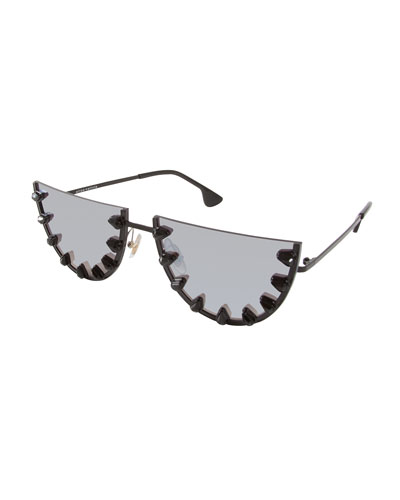 Palm Canyon Flat-Top Watermelon Sunglasses, Black