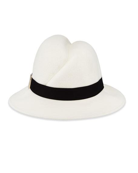 Nell Handmade Wool Fedora Hat