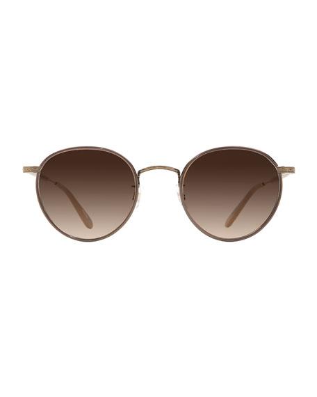 Garrett Leight Wilson Round Gradient Filigree Sunglasses