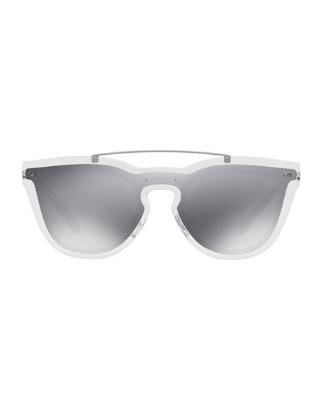 Shield Sunglasses  valentino glamgloss mirrored shield sunglasses