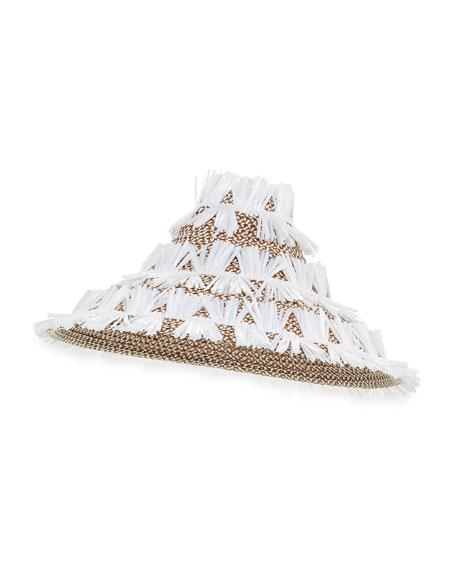 Tiki Lantern Squishee® Fringe Hat, White