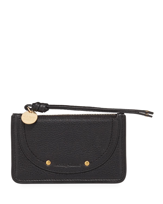 leather zip card holder - Chloe Card Holder