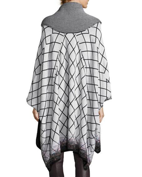 Mixed-Stripe Poncho