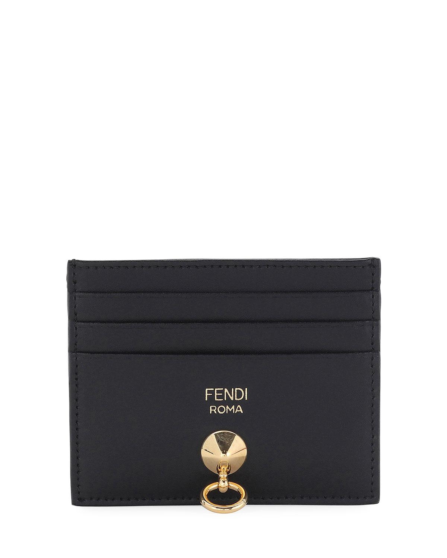 cbb2dada08 Fendi By The Way Leather Card Holder, Black | Neiman Marcus