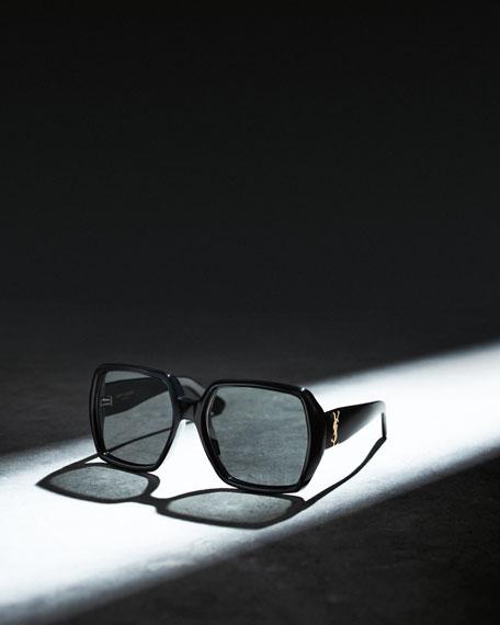 Oversized Square Monochromatic Sunglasses