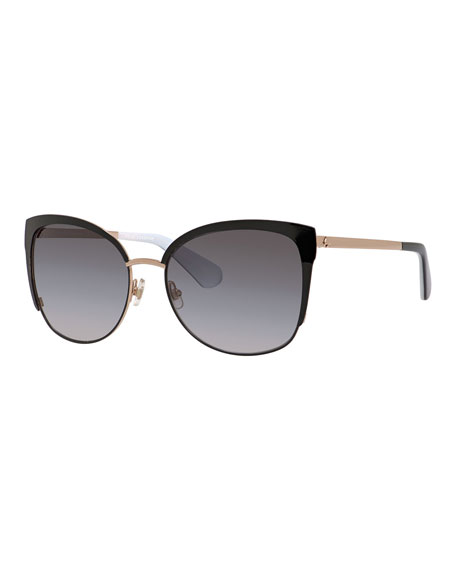 kate spade new york genice square oversize half-rim