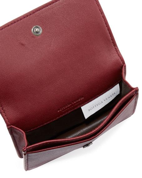 Intrecciato Flap Card Case
