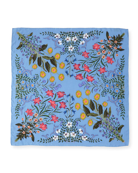 New Flora Silk Twill Scarf