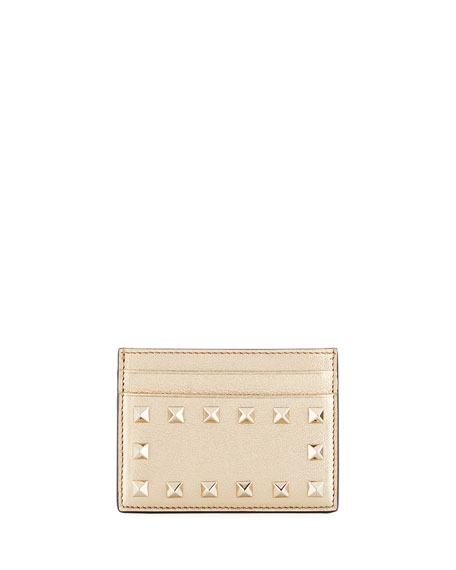 Rockstud Metallic Card Holder