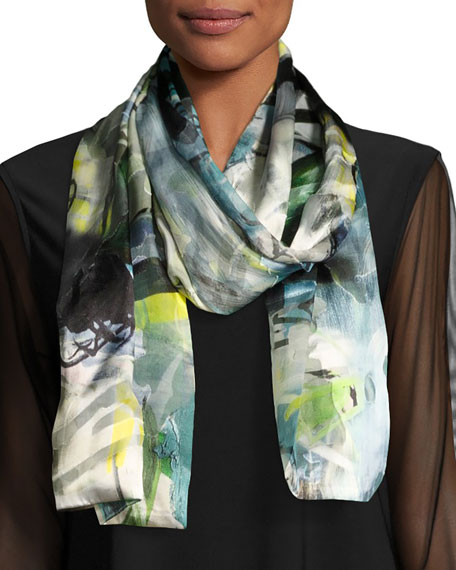 Caroline Rose Sheer Delight Devore Scarf