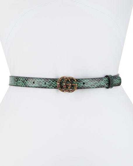 Gucci Jewel GG Snakeskin Belt