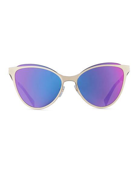 Metal Cat Eye Sunglasses  marc jacobs flat metal cat eye sunglasses