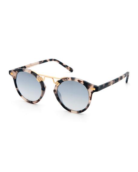 KREWE St. Louis Round Gradient Sunglasses, Tortoise