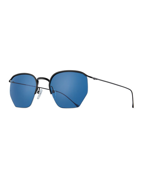 Geo I Semi-Rimless Geometric Sunglasses