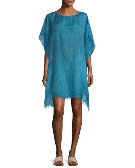 Maltinto Modal Organic Linen Poncho, Plus Size