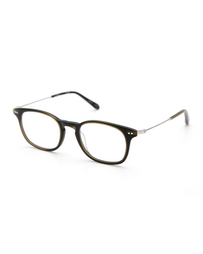 La Salle Square Optical Frames, Matte Fern