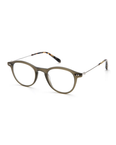 Claude Round Optical Frames, Matte Sage