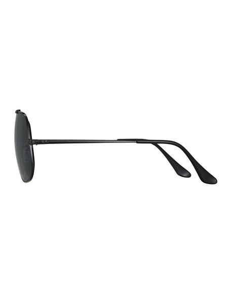The General Polarized Aviator Sunglasses, Black