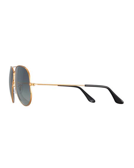 Aviator Large Metal II Oversized Sunglasses, Brown/Gray