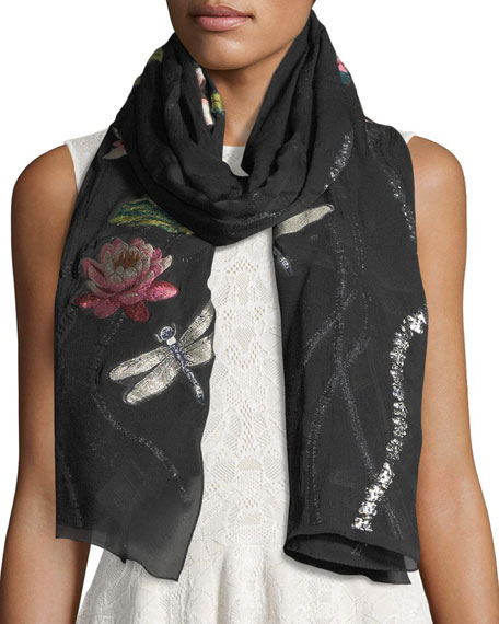 Alexander McQueen Waterlili Pond Evening Wrap