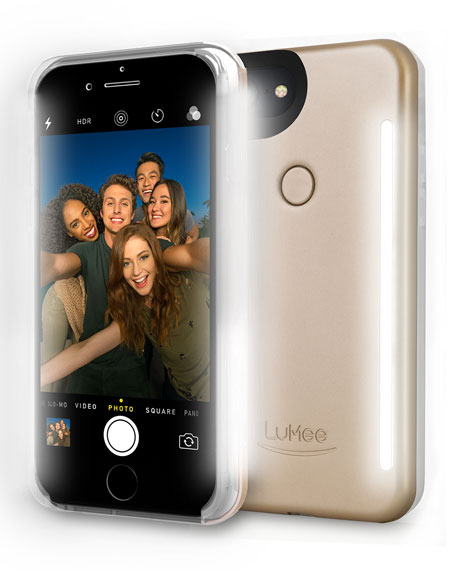 LuMee iPhone® 7 Photo-Lighting Duo Case, Matte Gold