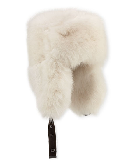 Fox-Fur Aviator Hat