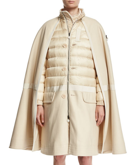 Constance Cape Quilted Puffer Jacket