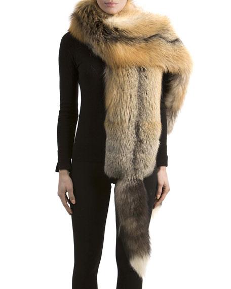 Fox Fur Boa with Detachable Tails
