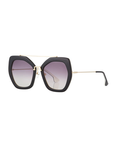 Bowery Square Sunglasses  Black