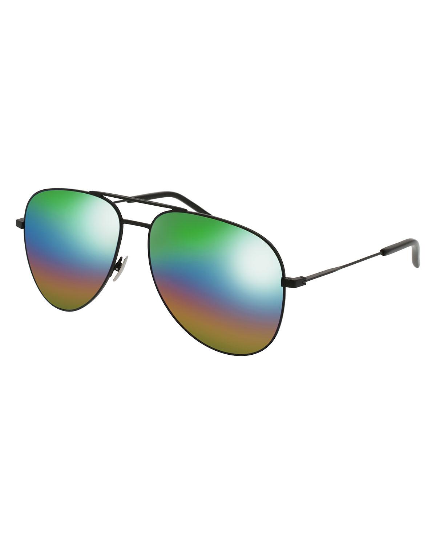 4b2287028bea6 Saint Laurent Classic 11 Spectral Rainbow Aviator Sunglasses ...