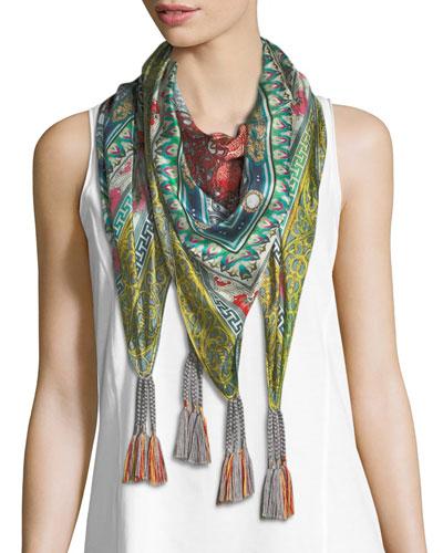 Annabelle Floral-Print Silk Scarf