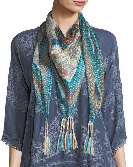 Johnny Was Mocity Silk Georgette Scarf and Matching