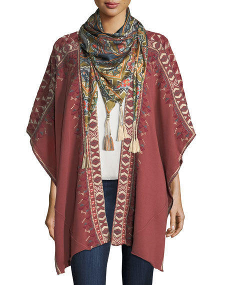 Johnny Was Spezia Silk Georgette Scarf and Matching