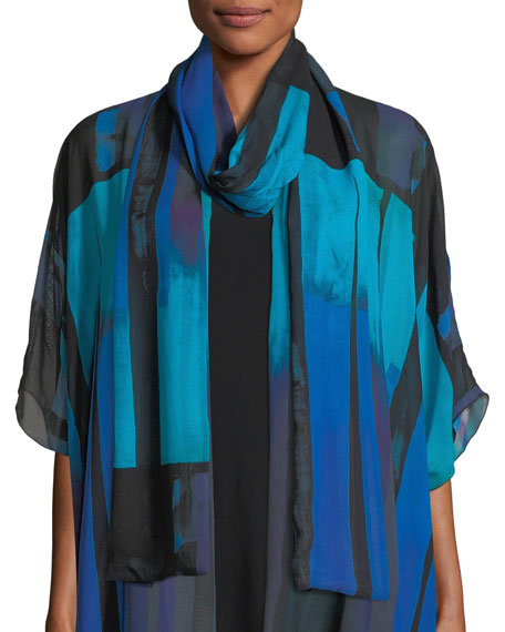 Caroline Rose Double Layer Jewel-Tone Georgette Scarf