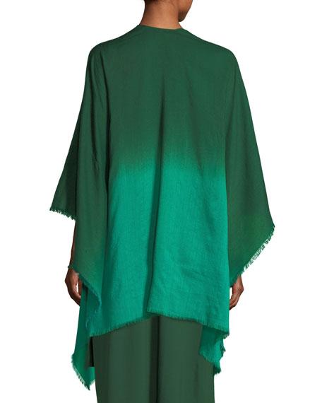 Ombre Wool/Silk Wrap, Plus Size