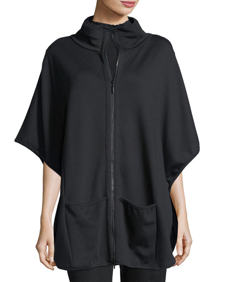 Interlock Zip-Front Poncho