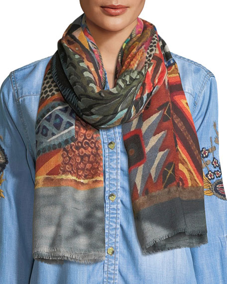 Tolani Vintage Geo-Print Scarf and Matching Items
