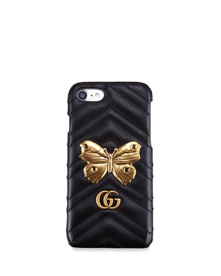 Matelassé Leather Moth iPhone 7 Case