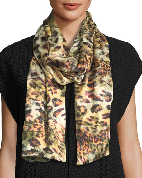 Caroline Rose Leopard Devore Scarf and Matching Items