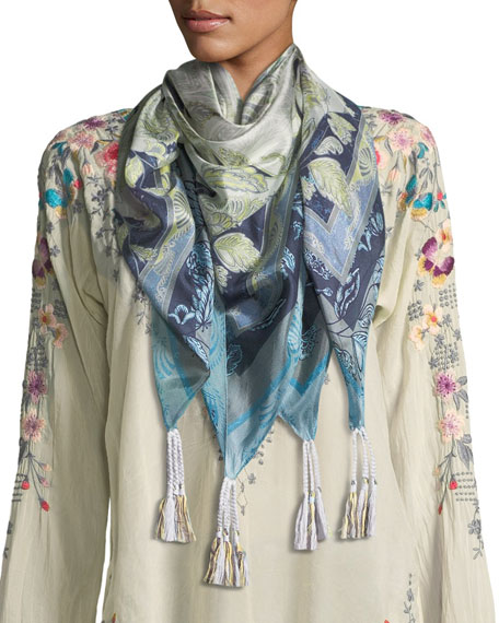 Arina Printed Silk Scarf