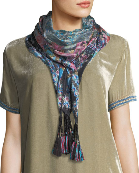 Besimo Printed Silk Georgette Scarf