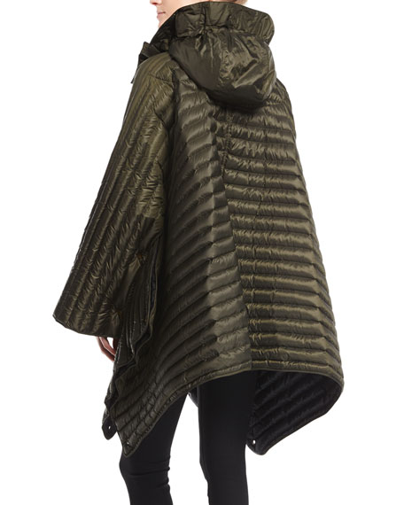 Down-Fill Cape with Hood