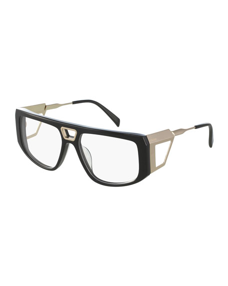Two-Tone Wrap Optical Frames