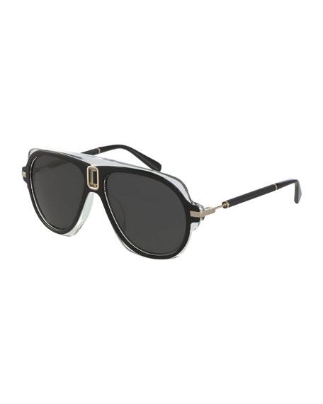 Balmain Morgan Aviator Sunglasses