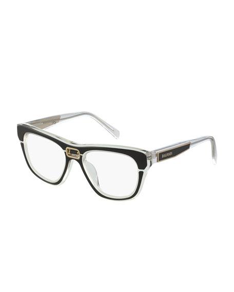 Balmain Transparent Acetate Optical Frames
