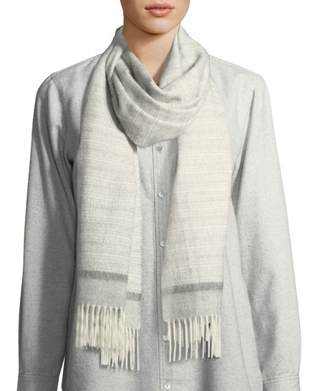 Eileen Fisher Baby Alpaca Striped Scarf and Matching